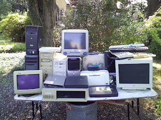 a bunch of old computer gear