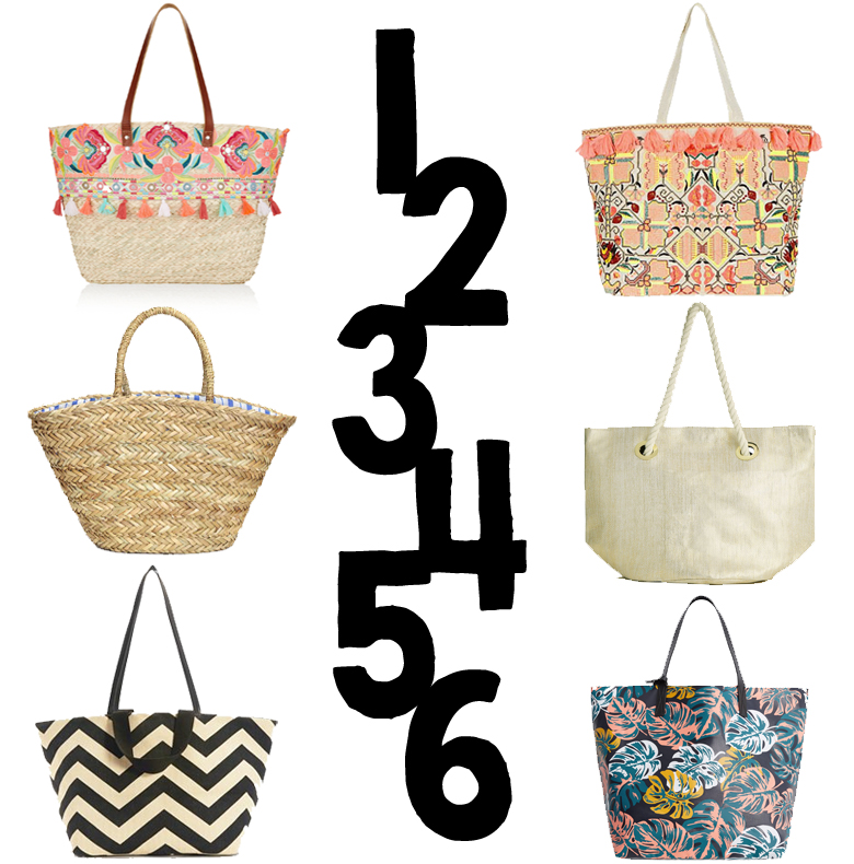 THE BEACH BAG EDIT - HIGH STREET - ZARA MANGO H&M NEW LOOK NEXT OASIS