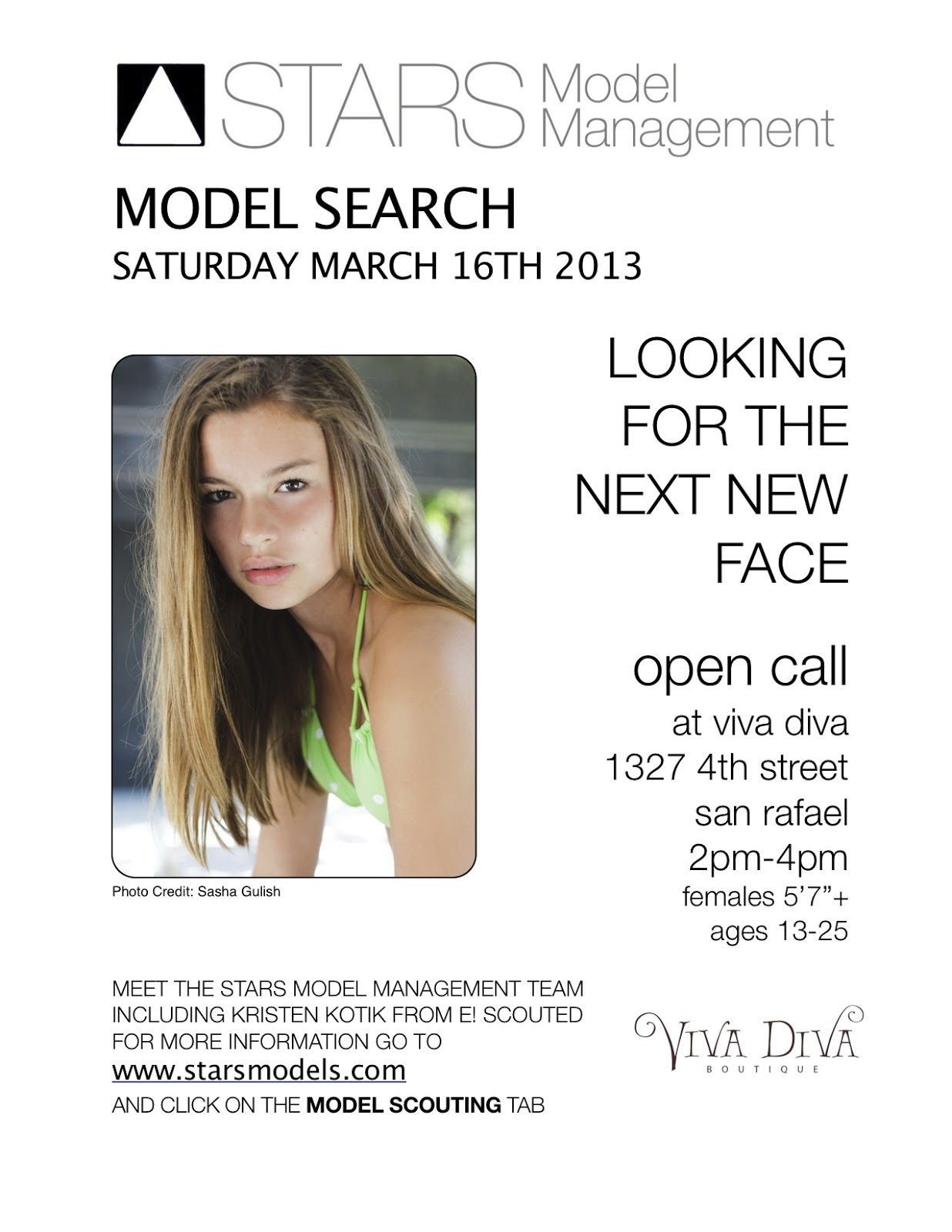 Stars Model Management: MODEL SEARCH: We are looking for our
