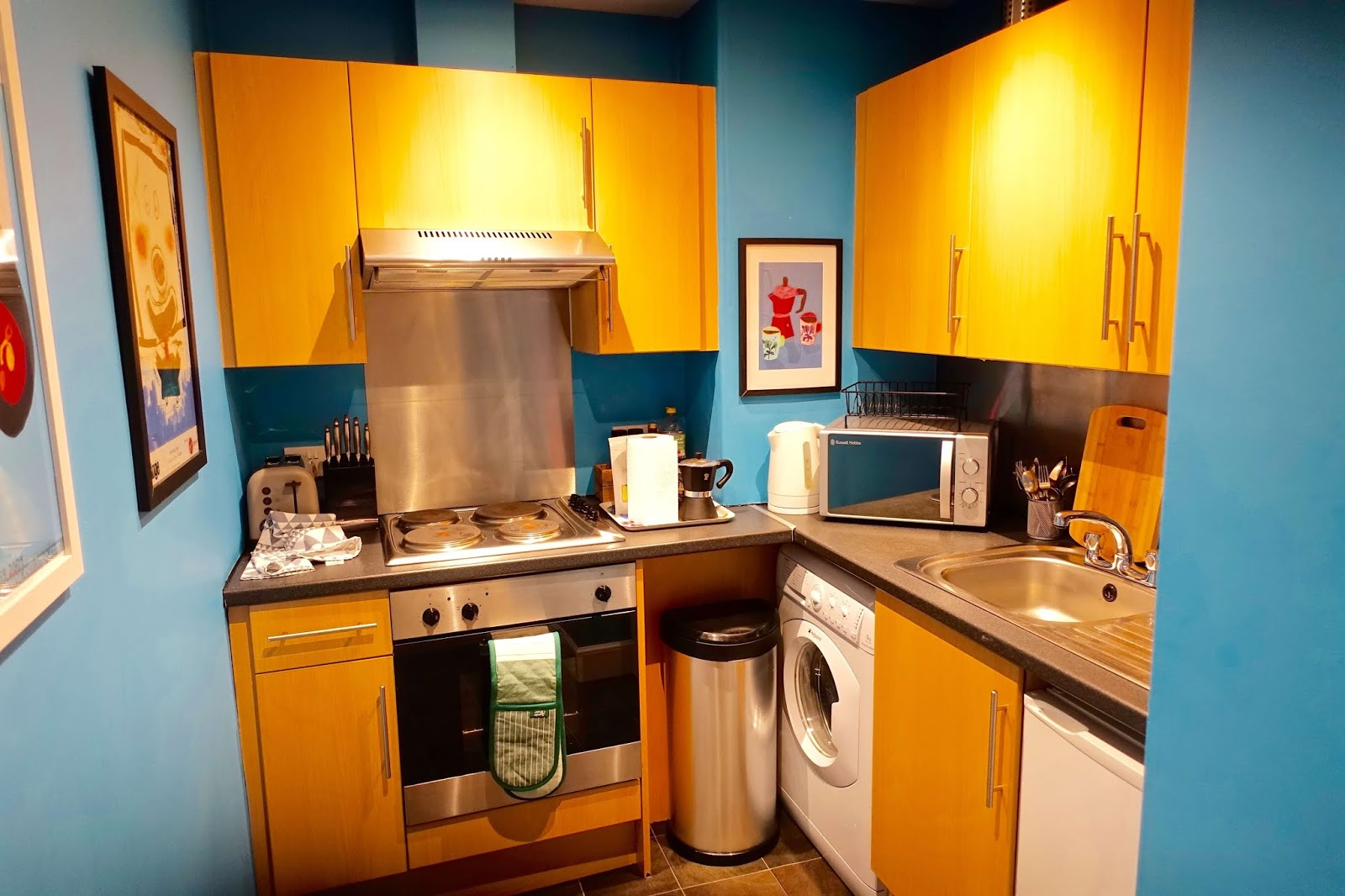 kitchen at vibrant apartment by the castle edinburgh