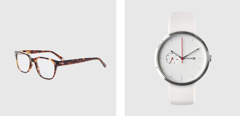 Cubitts eye glasses // GreyHours watch