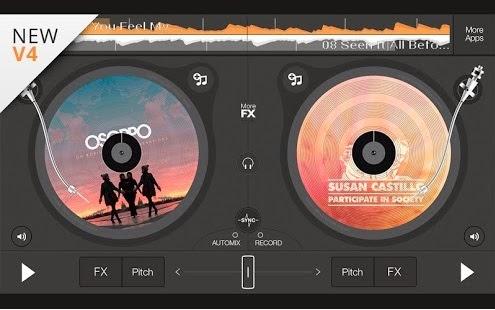 برنامج edjing - DJ Music Mixer Studio للاندرويد