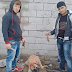 Photo of two man post photos of them cutting off a dog's ears ...and people are trying to bring them to justice