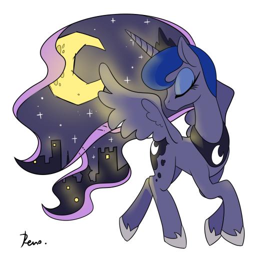 Luna doodle
