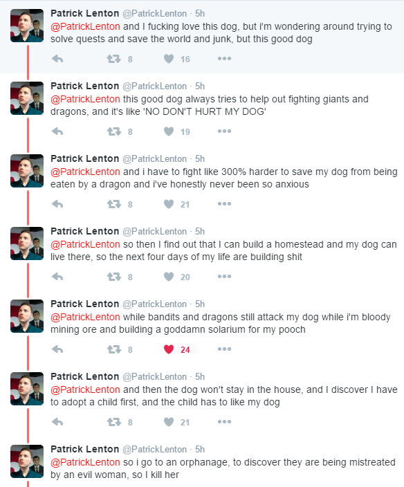 Guy's Epic Twitter Tale About His Dog In Skyrim Goes Viral