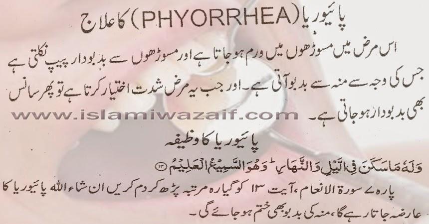 Pyorrhea Ka Ilaj in urdu