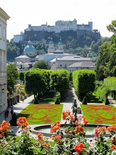 Mirabell Gardens Hohensalzburg Fortress Salzburg Austria
