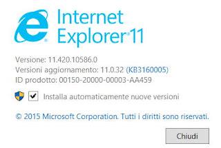 disinstallare internet explorer