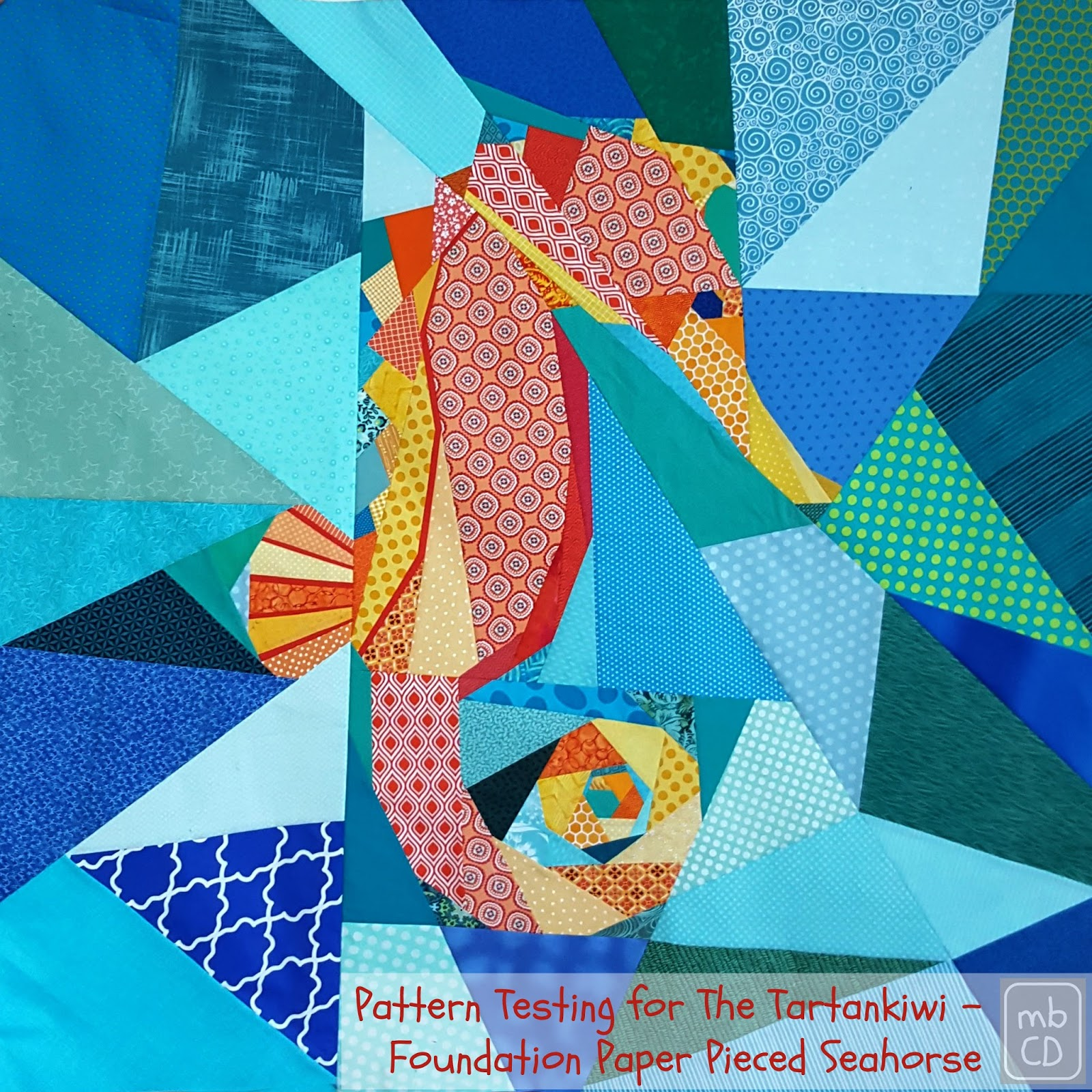 Chris dodsley mbcd a foundation paper pieced seahorse pattern a foundation paper pieced seahorse pattern testing for the tartankiwi bankloansurffo Image collections