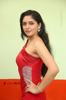Actress Zahida Sam Latest Stills in Red Long Dress at Badragiri Movie Opening .COM 0030.JPG