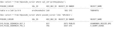 Pseudo cursors and invisible SQL