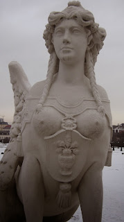 Statue of mythical woman-angel