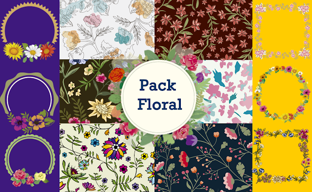 Pack floral: Scrapbook Kit