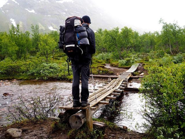 Lávka, jezero Gjende, příroda, Norsko, Jotunheimen