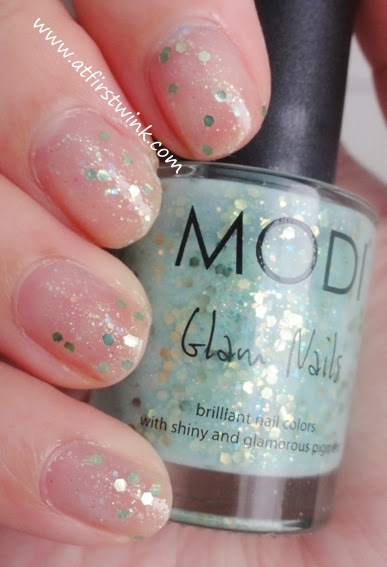 Modi Glam Nails 24 - Apple Candy, one coat