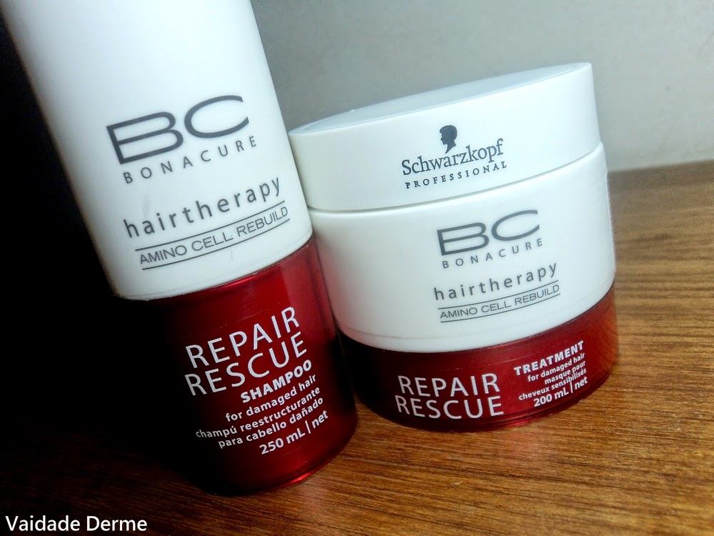 Schwarzkopf BC Bonacure Repair Rescue Shampoo Gel Reestruturante e Máscara Creme Reestruturante