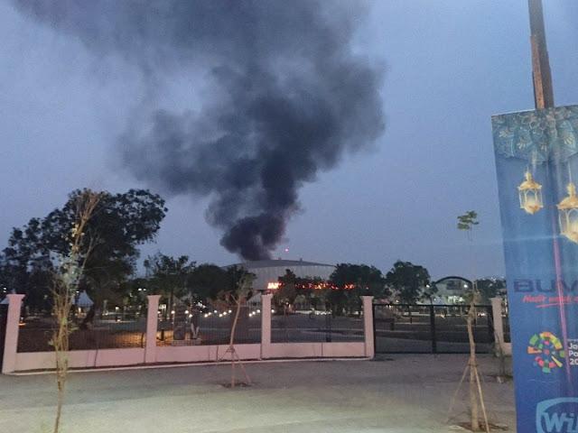 Kebakaran di Valodrome Diduga Akibat Percikan Api Las