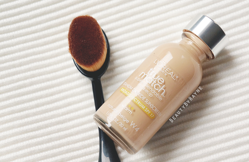 Review and swatches: L'oréal True Match Super Blendable W4 Natural Beige