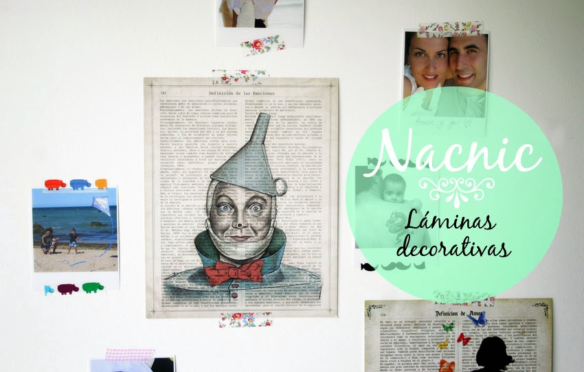 Láminas decorativas Nacnic, fotos y washi-tape1