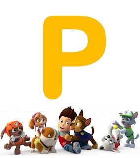 Alfabeto de Paw Patrol o Patrulla Canina.