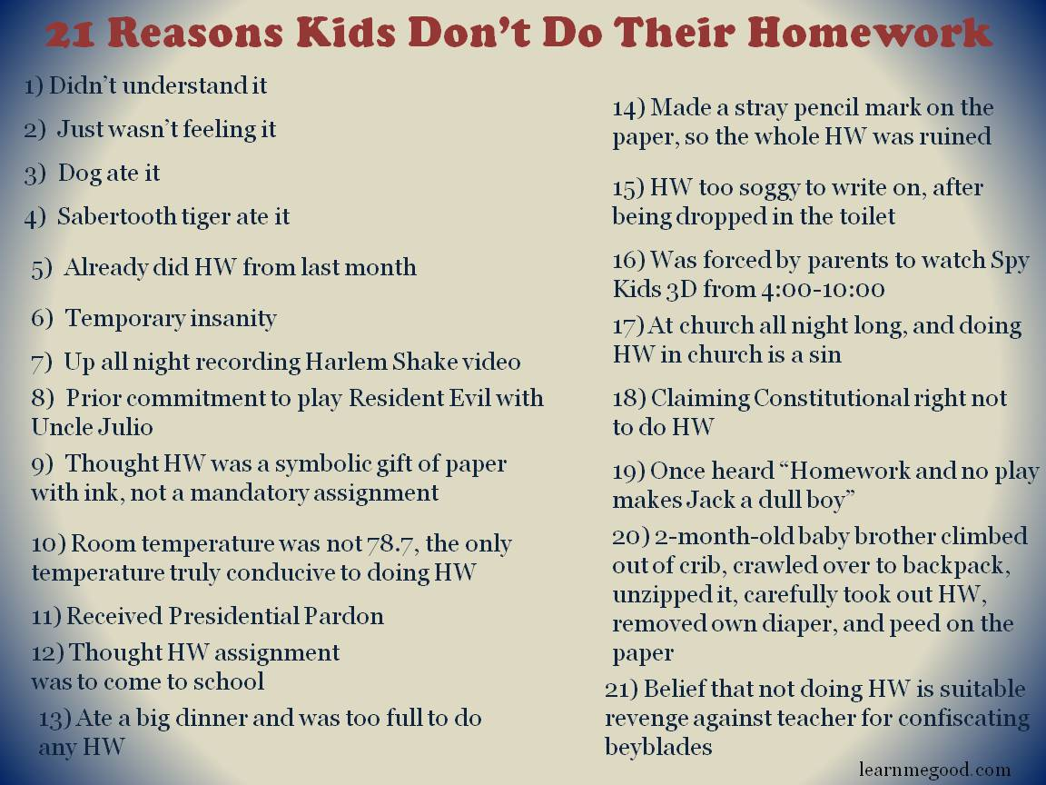 Why homework is good for kids