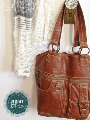 leather purse - Thrift Blitz Episode Four - SelfBinding Retrospect by Alanna Rusnak
