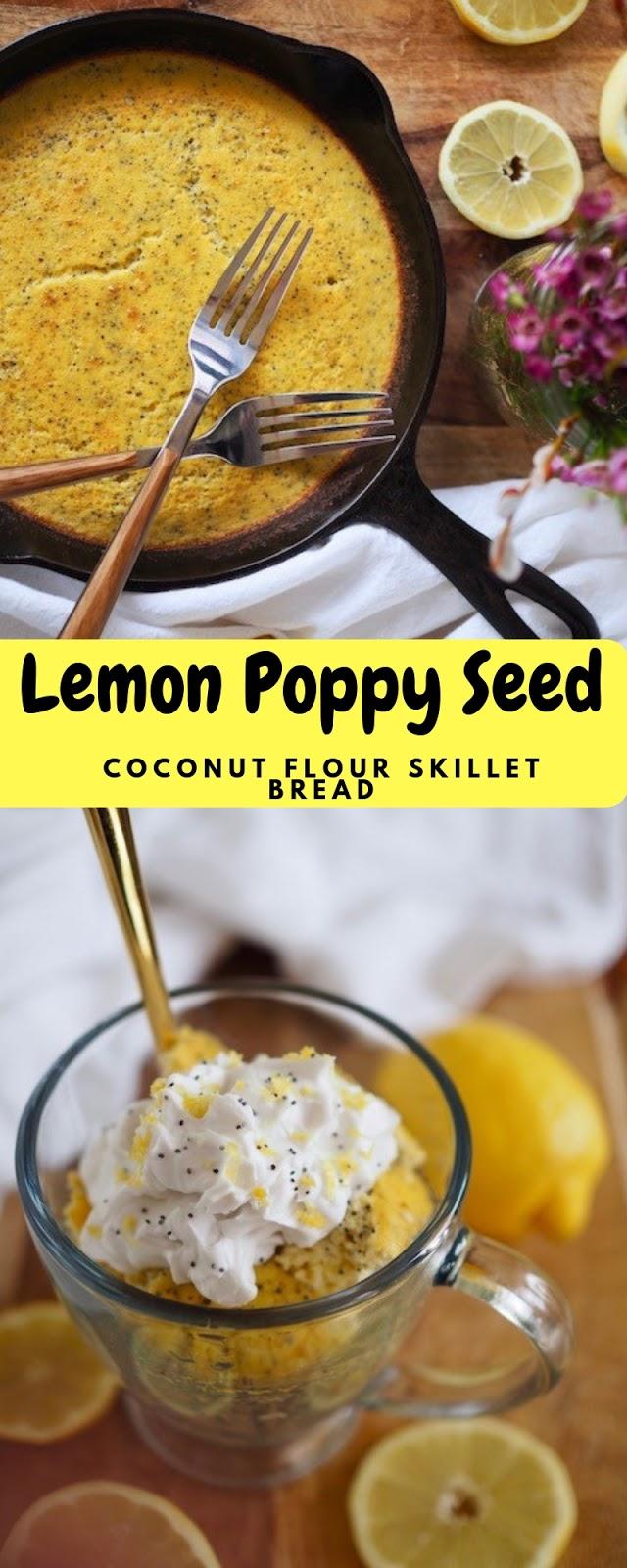 Lemon Poppy Seed Coconut Flour Skillet Bread