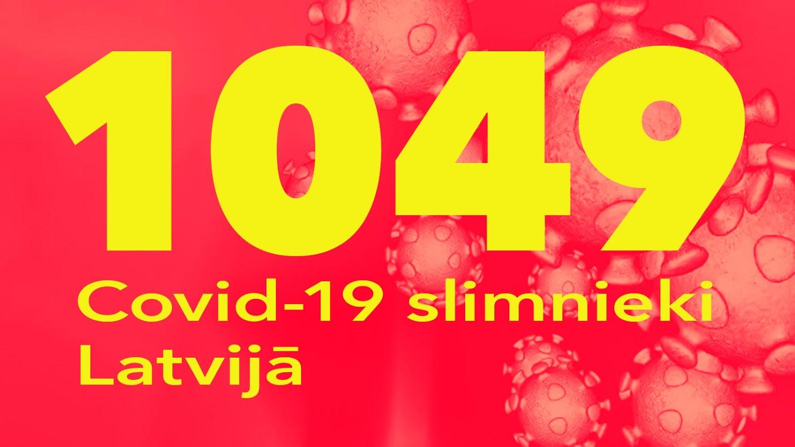 Koronavīrusa saslimušo skaits Latvijā 25.05.2020.