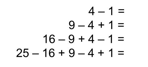 MEDIAN Don Steward mathematics teaching: alternating squares