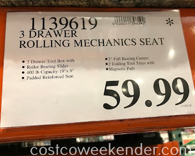 Costco 1139619 - Deal for the 3-Drawer Rolling Mechanics Seat at Costco