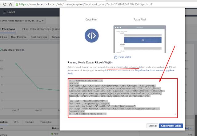 Ambil kode piksel facebook