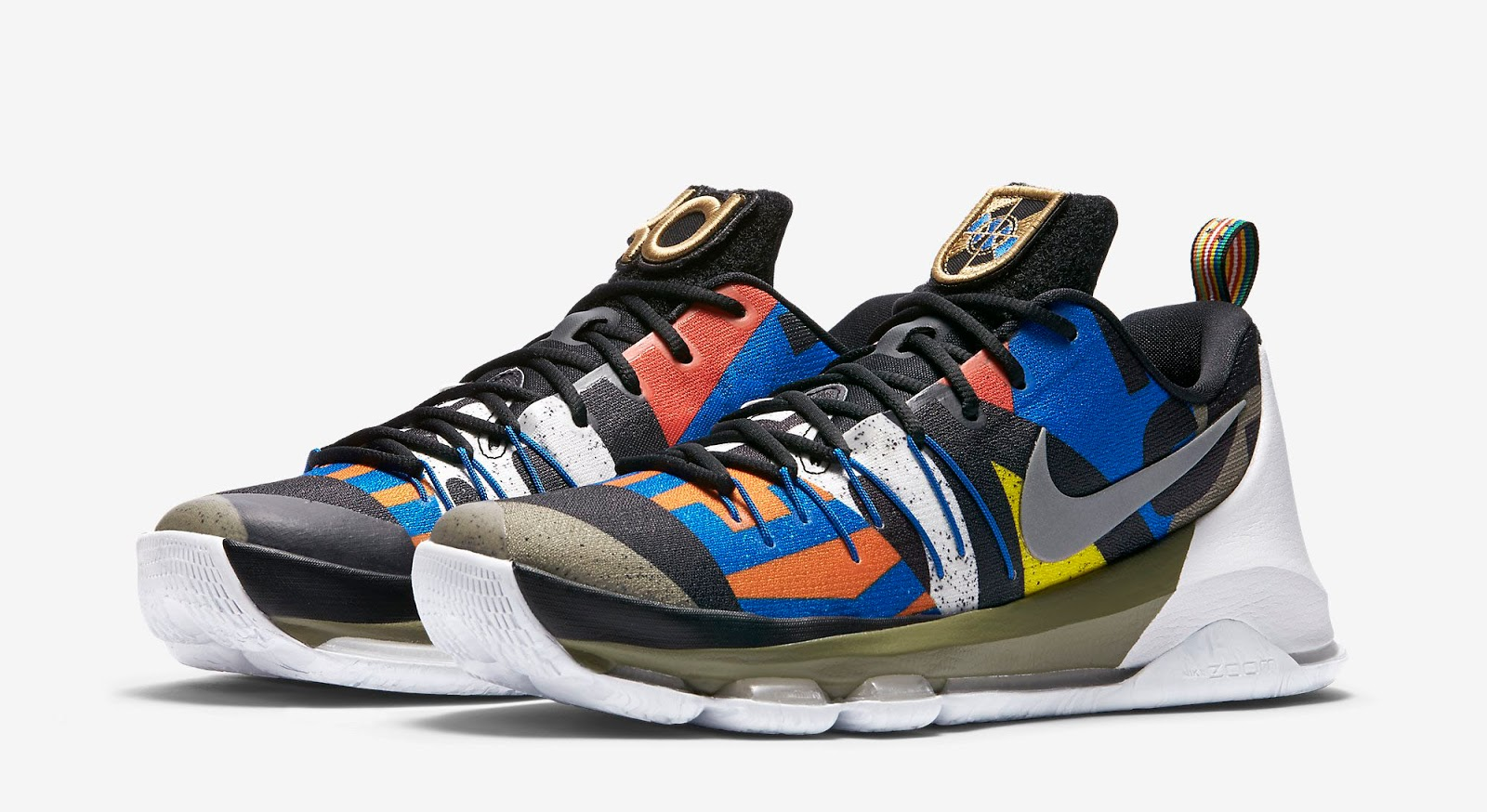 newest cc7fa 5a979 ... discount code for nike kd 8 as all star white multi color metallic  silver black release