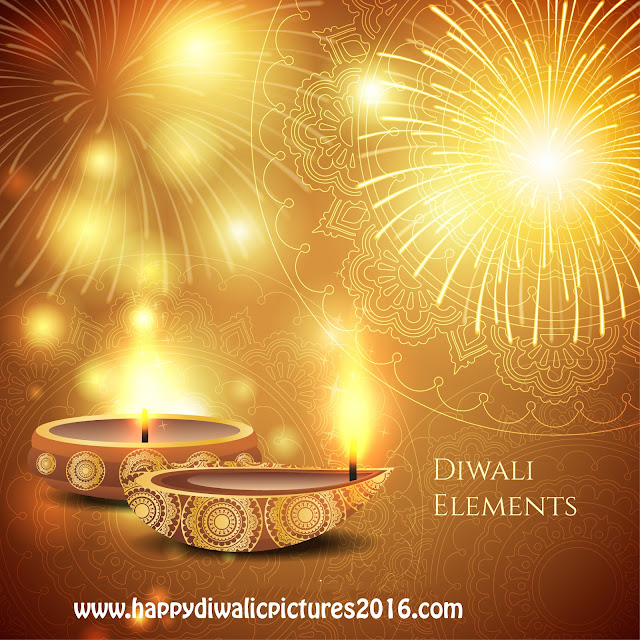 Happy Diwali Pictures with Diya Images for Whatsapp and Facebook