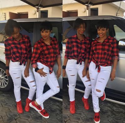 Beautiful photos of Iyabo Ojo and daughter rocking matching outfits (Photos)
