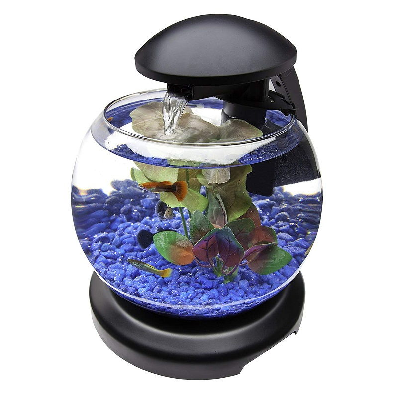 Betta Fish Tank Size - Tetra 1.8 Gallon Waterfall Globe Aquarium Kit