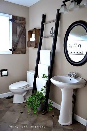 DIY toallero vintage de bambú decoración de baños Handmademania hmmd, bamboo towel rack, deco, bathroom, baño, original