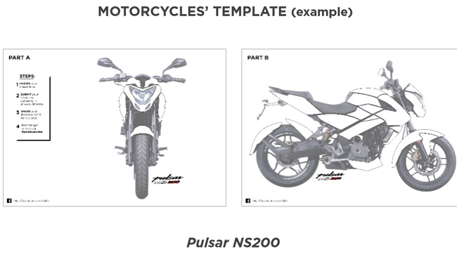 decal sticker for Pulsar NS200
