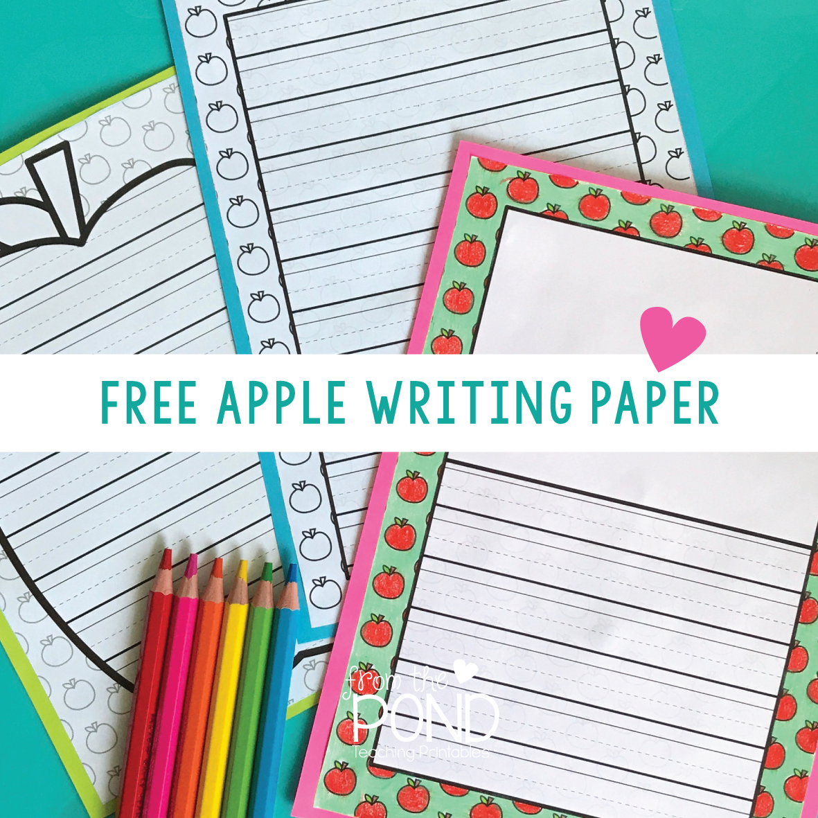 Apple Writing Paper Printables