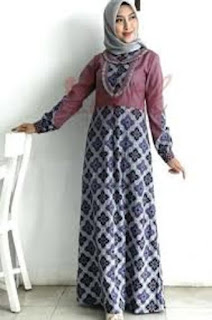 Gamis Batik Kombinasi Couple