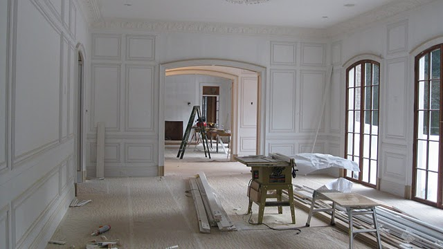 Under construction family room at Enchanted Home