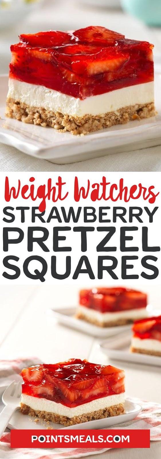 Strawberry Pretzel Salad Squares