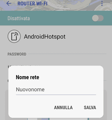 Cambiare nome hotspot android