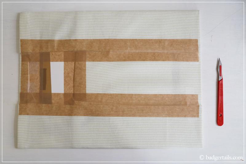 how to frame a tea towel badgertails