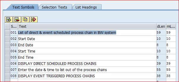 SAP ABAP Central: ABAP to get SAP BW Direct & Event scheduled
