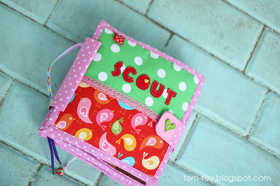 Quiet book for Scout. Handmade activity busy book for children by TomToy