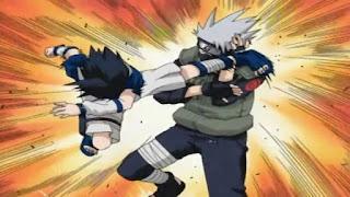 Screenshot Taijutsu Kakashi Hatake vs. Sasuke Uchiha Naruto Series Kecil Episode 005 Subtitle Bahasa Indonesia - www.uchiha-uzuma.com