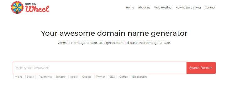 DomainWheel  - Generator Memilih Nama Domain
