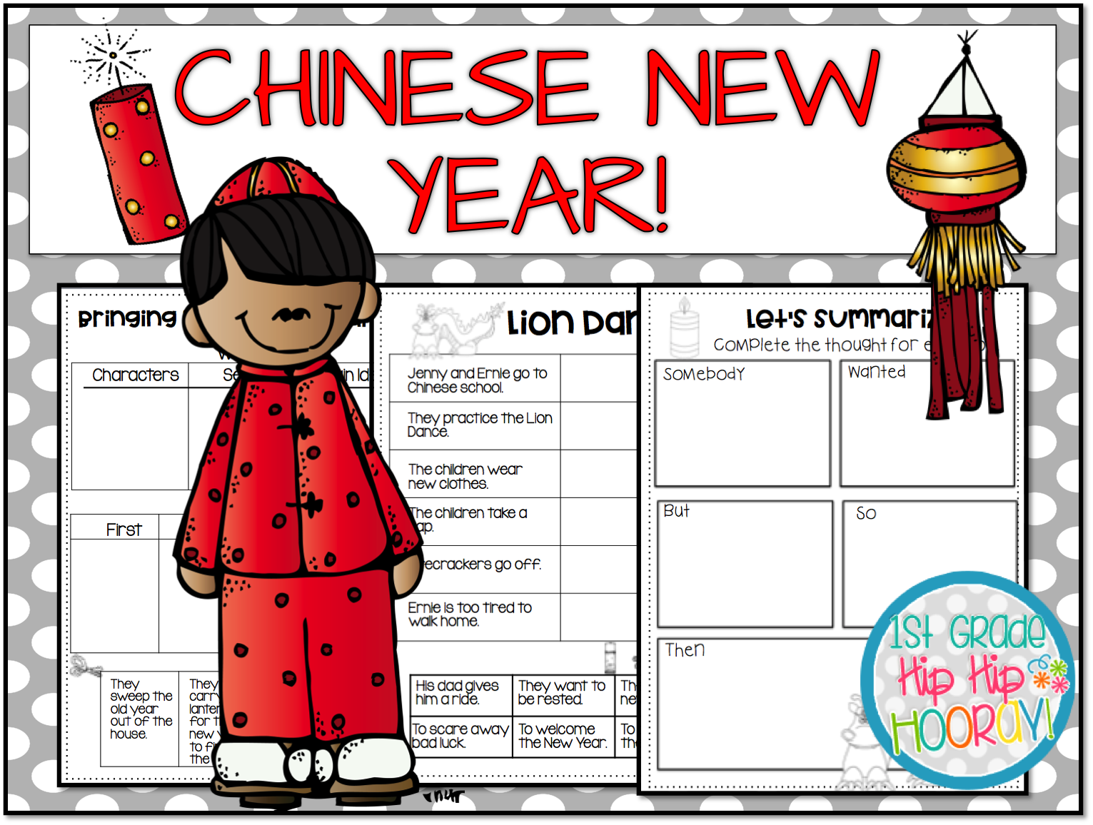 1st Grade Hip Hip Hooray Chinese New Year February 16th