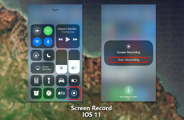 Cara Simple dan Mudah Merakam Layar iPhone IOS 11