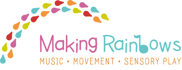 Making Rainbows music, movement and sensory play